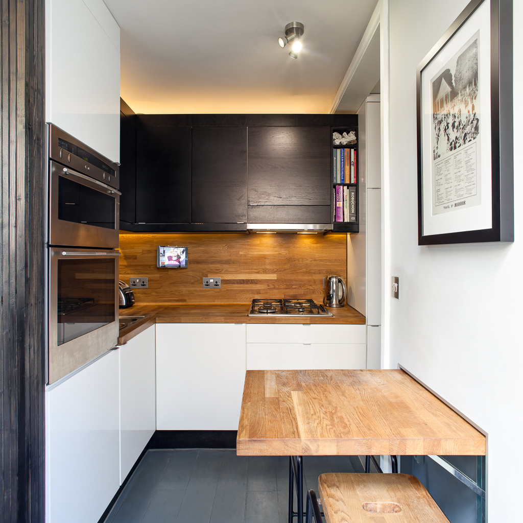Kitchen and informal dining space in our Hackney House