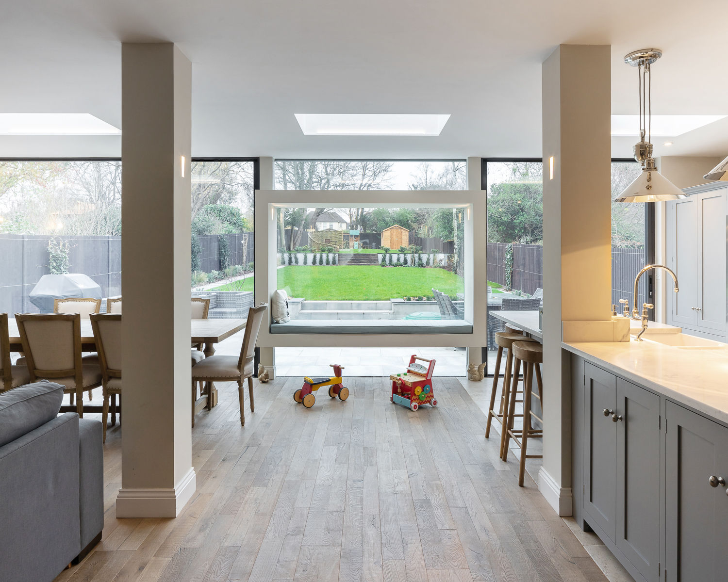 St Albans House kitchen and window seat