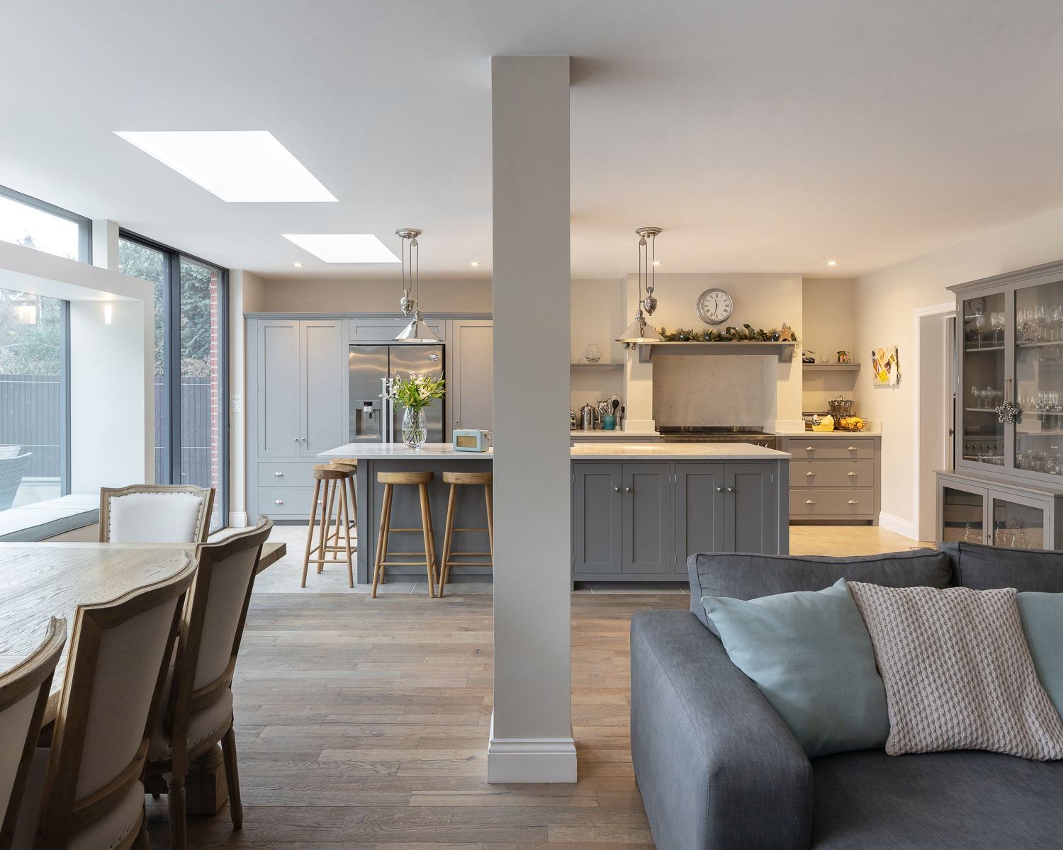 St Albans House kitchen and living room