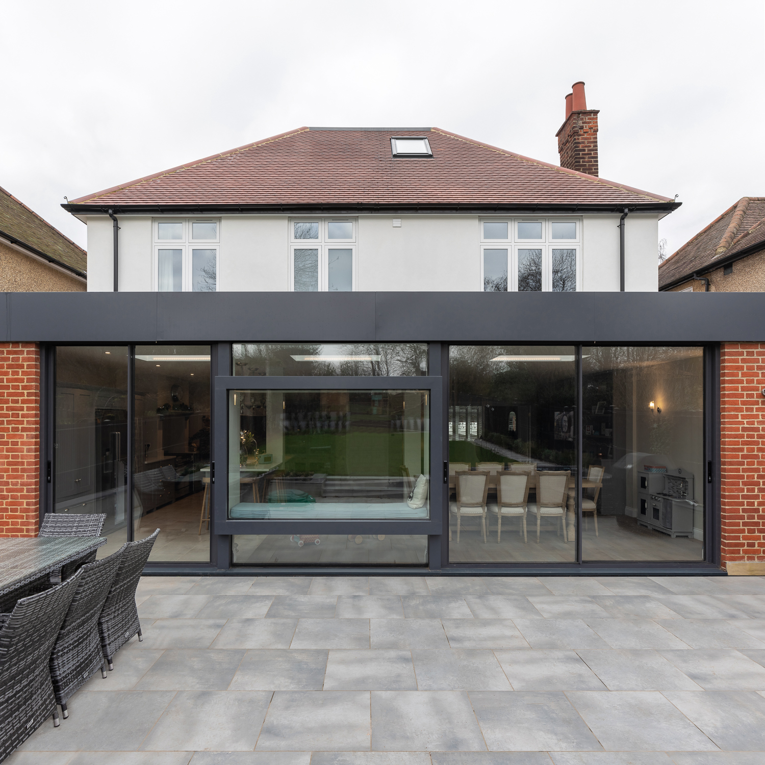 St Albans House rear extension and window seat