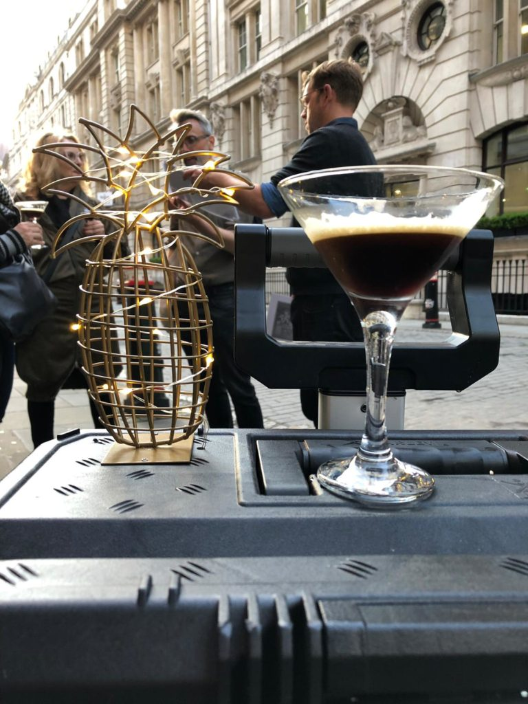 Espresso Martini on top of the travelling bar